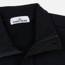 Мужская толстовка Stone Island Garment Dyed Half Zip Black фото- 1