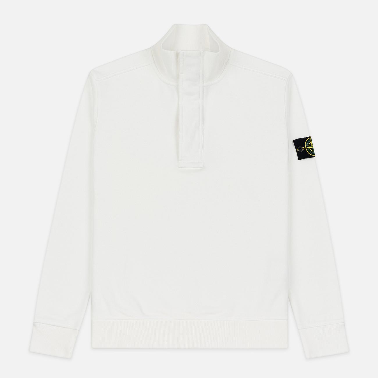 Мужская толстовка Stone Island Garment Dyed Half Zip Natural White