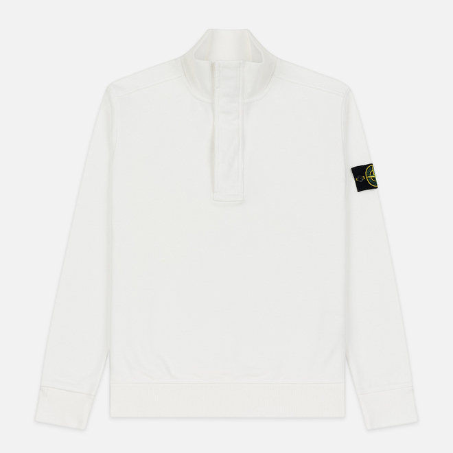 Мужская толстовка Stone Island Garment Dyed Half Zip Natural White