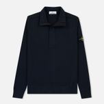Мужская толстовка Stone Island Garment Dyed Half Zip Navy Blue фото- 0