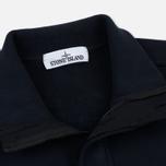 Мужская толстовка Stone Island Garment Dyed Half Zip Navy Blue фото- 1