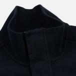 Мужская толстовка Stone Island Garment Dyed Half Zip Navy Blue фото- 2