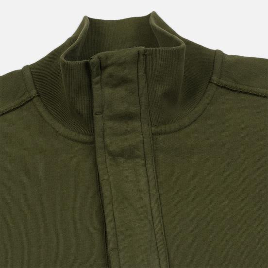 Мужская толстовка Stone Island Garment Dyed Half Zip Olive Green