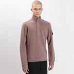 Мужская толстовка Stone Island Garment Dyed Half Zip White фото- 5
