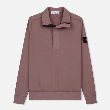 Мужская толстовка Stone Island Garment Dyed Half Zip Pink Quartz