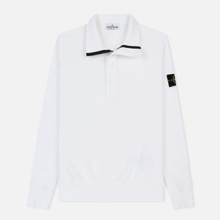 Мужская толстовка Stone Island Garment Dyed Half Zip White