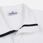 Мужская толстовка Stone Island Garment Dyed Half Zip White фото- 1