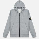 Мужская толстовка Stone Island Garment Dyed Hooded Light Grey фото- 0