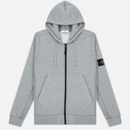 Мужская толстовка Stone Island Garment Dyed Hooded Light Grey