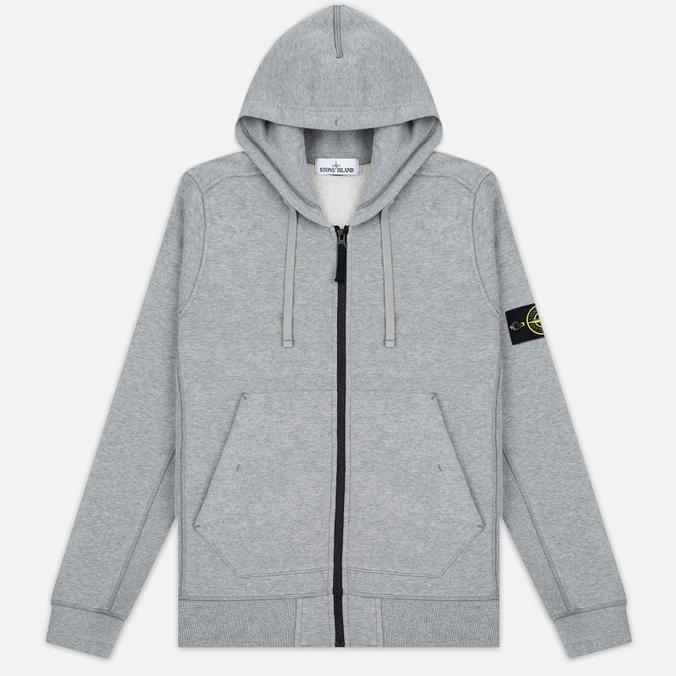 Мужская толстовка Stone Island Garment Dyed Hooded Light Grey