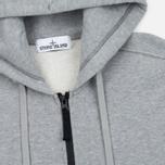 Мужская толстовка Stone Island Garment Dyed Hooded Light Grey фото- 1