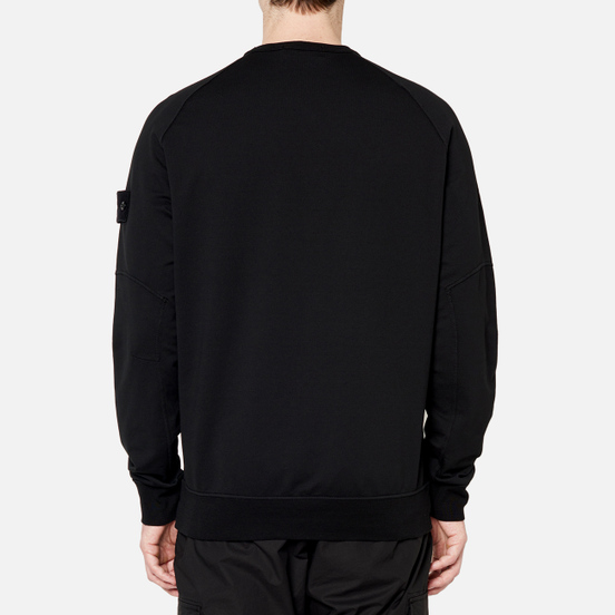 Мужская толстовка Stone Island Ghost Piece Crew Neck Black