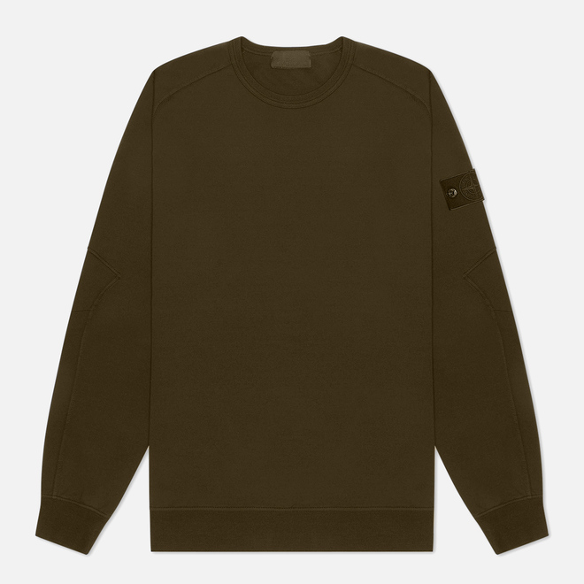 Мужская толстовка Stone Island Ghost Piece Crew Neck Military Green