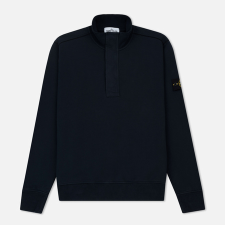Мужская толстовка Stone Island Half Zip Brushed Cotton Fleece Navy