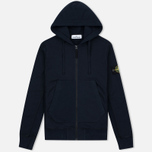 Мужская толстовка Stone Island Heavyweight Zip Hoody Dark Blue фото- 0