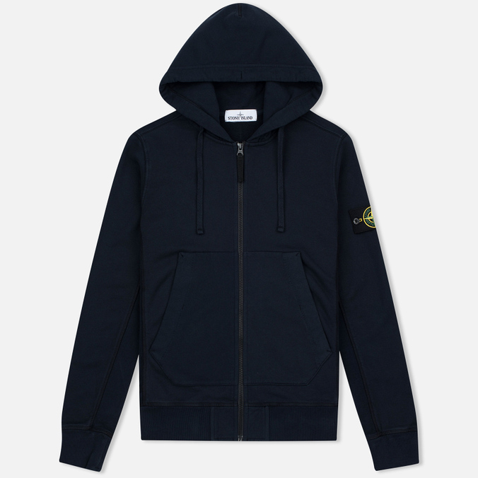 Мужская толстовка Stone Island Heavyweight Zip Hoody Dark Blue