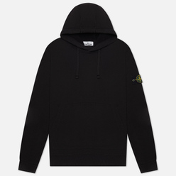 Мужская толстовка Stone Island Hooded Brushed Cotton Fleece Black