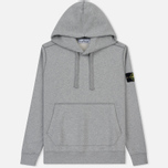 Мужская толстовка Stone Island Hooded Brushed Cotton Fleece Dust Grey фото- 0