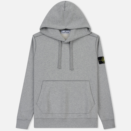 Мужская толстовка Stone Island Hooded Brushed Cotton Fleece Dust Grey