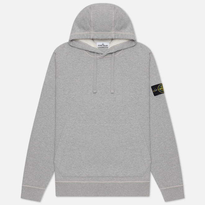 Мужская толстовка Stone Island Hooded Brushed Cotton Fleece Dust Melange