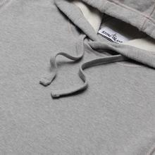 Мужская толстовка Stone Island Hooded Brushed Cotton Fleece Dust Melange фото- 3