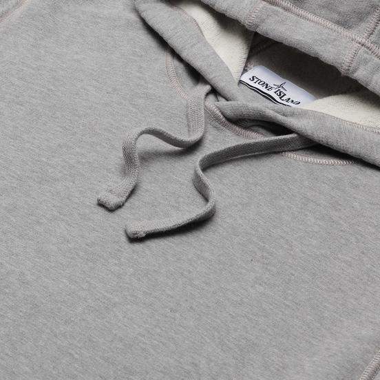 Мужская толстовка Stone Island Hooded Brushed Cotton Fleece Dust Melange