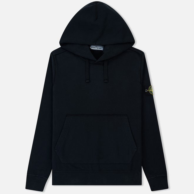 Мужская толстовка Stone Island Hooded Brushed Cotton Fleece Navy Blue