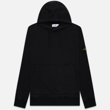 Мужская толстовка Stone Island Hooded Cotton Fleece Pouch Pocket Black фото- 0