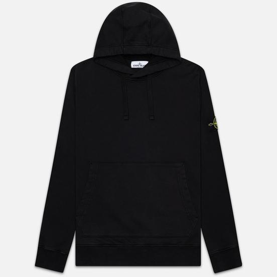 Мужская толстовка Stone Island Hooded Cotton Fleece Pouch Pocket Black