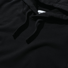Мужская толстовка Stone Island Hooded Cotton Fleece Pouch Pocket Black фото- 1