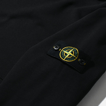 Мужская толстовка Stone Island Hooded Cotton Fleece Pouch Pocket Black фото- 2
