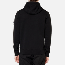 Мужская толстовка Stone Island Hooded Cotton Fleece Pouch Pocket Black фото- 5