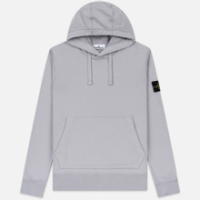 Мужская толстовка Stone Island Hooded Cotton Fleece Pouch Pocket Dust Grey фото- 0