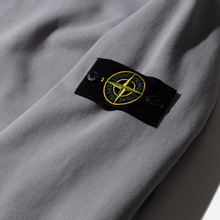 Мужская толстовка Stone Island Hooded Cotton Fleece Pouch Pocket Dust Grey фото- 3