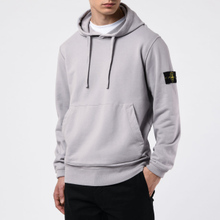 Мужская толстовка Stone Island Hooded Cotton Fleece Pouch Pocket Dust Grey фото- 4