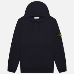 Мужская толстовка Stone Island Hooded Cotton Fleece Pouch Pocket Navy Blue
