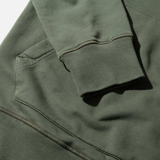 Мужская толстовка Stone Island Hooded Cotton Fleece Pouch Pocket Olive Green