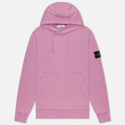 Мужская толстовка Stone Island Hooded Cotton Fleece Pouch Pocket Quartz Pink