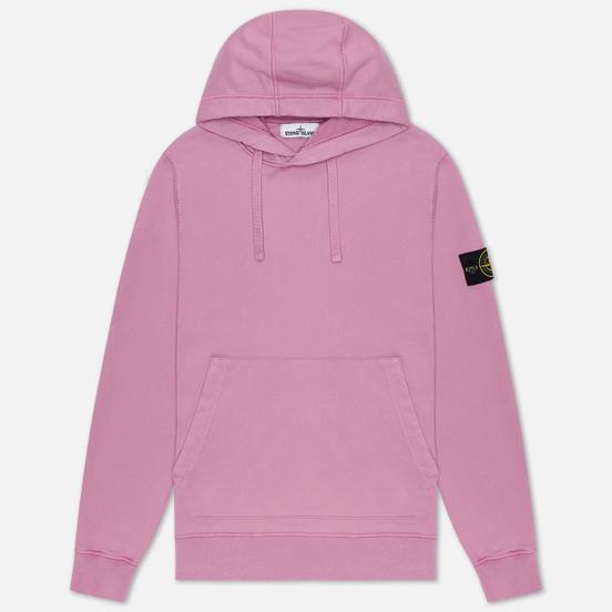 Мужская толстовка Stone Island Hooded Cotton Fleece Pouch Pocket Quartz Pink