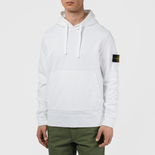 Мужская толстовка Stone Island Hooded Cotton Fleece Pouch Pocket White фото- 4