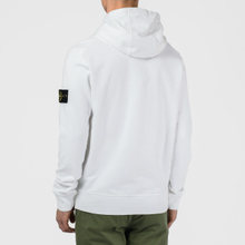 Мужская толстовка Stone Island Hooded Cotton Fleece Pouch Pocket White фото- 5