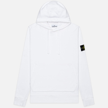Мужская толстовка Stone Island Hooded Cotton Fleece Pouch Pocket White фото- 0
