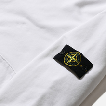 Мужская толстовка Stone Island Hooded Cotton Fleece Pouch Pocket White фото- 2