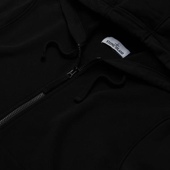 Мужская толстовка Stone Island Hooded Full Zip Black