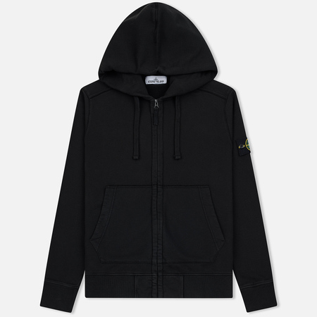 Мужская толстовка Stone Island Hooded Full Zip Black