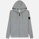 Мужская толстовка Stone Island Hooded Full Zip Grey фото- 0