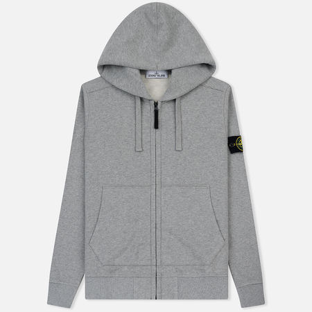 Мужская толстовка Stone Island Hooded Full Zip Grey