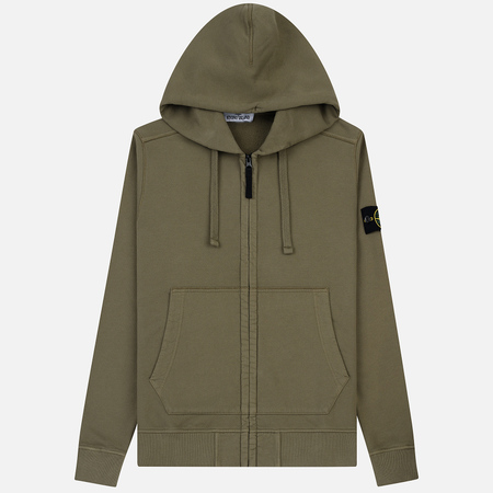 Мужская толстовка Stone Island Hooded Full Zip Olive