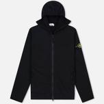Мужская толстовка Stone Island Hoodie Jersey Full Zip Black фото- 0