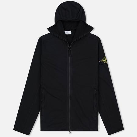 Stone Island Hoodie Jersey Full Zip Men's sweatshirt Black